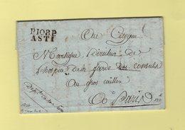 Asti - 108 - Port Paye - 1802 - Courrier D'un Officier De Sante - Destination Paris - Departement Conquis Du Tanaro - 1792-1815: Conquered Departments