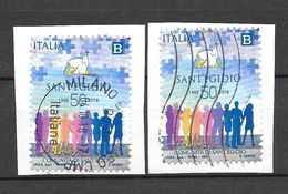 Italia Repubblica 2018 Anniversario Della Fondazione Della Comunità Di Sant'Egidio Coppia Di Valori Timbrati - 6. 1946-.. Repubblica