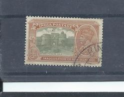 India Stamps.  GV 1931 Inauguration Of New Delhi  1/4 A Used W/mark To Left CV £6  (D174) - India (...-1947)