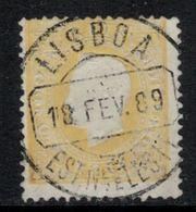 Portugal // 1870-1880 // 150r Ocre - 1862-1884 : D.Luiz I
