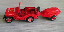 Jeep Willys Avec Moto Pompe Guinard - Solido 1/43ème - Solido