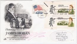 USA United States 1981 FDC James Hoban, White House Architect, Ireland, Canceled In Washington, Siauliai USSR, Zip Code - Premiers Jours (FDC)