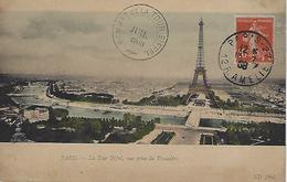 Paris-sommet De La Tour Eiffel-juillet 1908 - Marcofilie (Brieven)