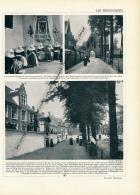 1929 : Belgique, Gand, Béguinages, Couvent Des Fleurs, Château De Moorsel, Château D'Oydonce, Page Originale Recto-verso - Documentos Antiguos