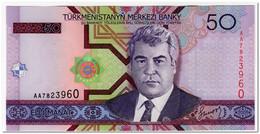 TURKMENISTAN,50 MANAT,2005,P.17,UNC - Turkmenistan