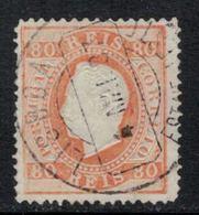 Portugal // 1870-1880 // 80r Orange - 1862-1884 : D.Luiz I