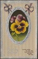 Birthday Greetings, C.1910 - Embossed Postcard - Birthday