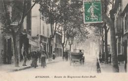 CPA 84  AVIGNON  ROUTE ROGNONAS ST RUFF ANIMEE - Avignon