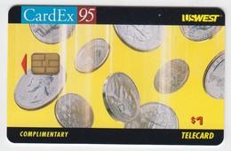 US West  Phonecard - CardEx '95 -  Superb Condition - Etats-Unis