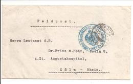 Feldpost/Poste Militaire. Kluingen Clouange>Cöln. Censure Zensur Metz - 1. Weltkrieg