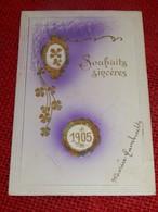 """FANTAISIES - VOEUX -  """" Souhaits Sincères """"   - (Carte Gaufrée) - Nouvel An"""