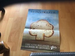Affiche Pain Boulangerie  Le Pain De La Vie Chez Votre Boulanger La Santé Au Quotidien - Affiches