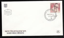 ISRAEL FDC RABBI ISAAC HERZOG * 1984 - FDC