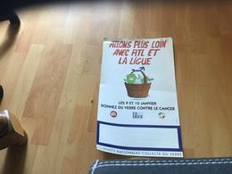 Affiche Allons Plus Loin Avec RTL Et La Ligue Donner Du Vert Contre Le Cancer La Ligue RTL - Affiches