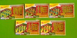 5 Billets De Loterie Instantanée.Portugal - Billetes De Lotería