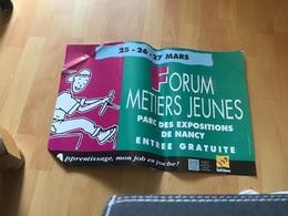 Grande Affiche Forum Métiers Jeunes Par Des Expositions De Nancy Entrée Gratuites Apprentissage Mon Job  En Poche - Affiches
