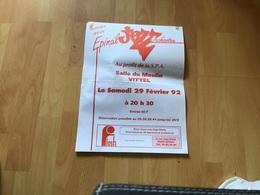Affiche Soirée Avec Épinal Jiaze Orchestre Au Profit De La SPA Salle Du Moulin Vittel Publicité - Affiches