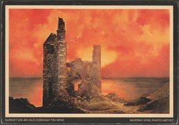 Sunset On An Old Cornish Tine Mine, 1972 - Murray King Postcard - England
