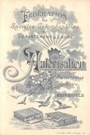 10 - AUBE / Troyes - 103759 - Carte Illustrée - Fédération Des Sociétés Colombophiles - Carte 2 Volets - Troyes