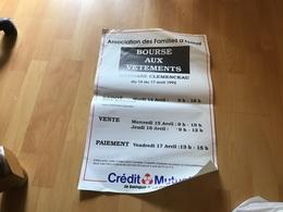 Affiche Association Des Familles Des Finales Bourse  Vêtements Épinal Crédit Mutuel La Banque - Affiches