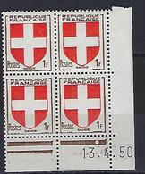 """FR Coins Datés  YT 836 """" Armoiries De Savoie """" Neuf** Du 13.4.50 - 1940-1949"""