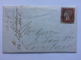 GB - Victoria 1846 Cover With Partial Letter Contents  - Manchester To Liverpool - 1840-1901 (Victoria)