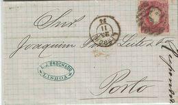 Portugal , 1874 , Folder Letter , D. Luiz 25 R Stamp , Lisboa And Porto Postmarks - Cartas
