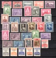 1925-42   Ruanda,  Séries Complètes,  77 / 78 -  92 / 125*, Cote 89 €, - Ruanda-Urundi