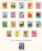 1953-57  Ruanda-Urundi,fleurs, Baudoin, Mozart, Croix-Rouge, Séries Entre 177 Et 204*,+ TX 9-14*, Cote 38 €, - 1948-61: Neufs