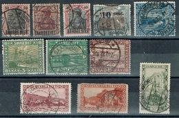 FICHA SELLOS SAARGEBIET - 1920-35 Sociedad De Naciones