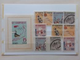 ALBANIA - Olimpiadi Tokio 1964 - Nn. 747A/751A + 747B/751B + BF 19B Nuovi ** + Spese Postali - Albania