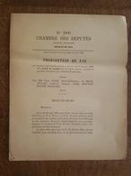 1885 - Projet De Loi - Abaissement Sur Cafés, Cacaos, Vanilles, Girofles, La Réunion, Guadeloupe, Martinique, Antilles - Décrets & Lois