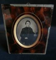 DAGUERREOTYPE AMBROTYPE Jeune Homme  MAISON DUVAL à NANTES 1861 - Anciennes (Av. 1900)