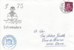 Espana Spain 1992 Madrid Ctel Gral De La Armada Gulf War Fragata Extremadura Naval Cover - Franquicia Militar