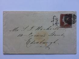 GB - Victoria 1846 Cover To Edinburgh - Diamond 8 London Postmark - 1840-1901 (Viktoria)