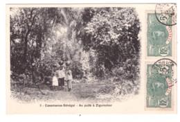 CASAMANCE-SENEGAL - Au Puits à ZIGUINCHOR  (carte Animée) - Senegal