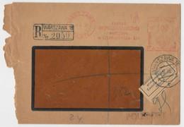 "Poland Warsaw Registered Cover  ""Warszawa 19"" 1939 - Sonstige"