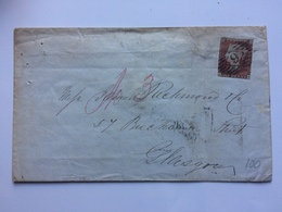 GB - Victoria 1848 Cover To Glasgow - Diamond 6 London Postmark - Lovely Keith & Co. Silk Manufacturers Seal To Rear - 1840-1901 (Victoria)