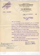 29782 TUNISIE 1930 TUNIS LETTRE ET FEUILLE PROPOSITION ASSURANCES DARMON ATTIAS PHENIX ACCIDENTS LA METROPOLE - Documenti Storici