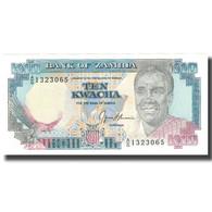 Billet, Zambie, 10 Kwacha, Undated (1989-91), KM:31b, NEUF - Zambie