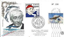 Premier Jour Hommage Au Commandant Jacques Yves Cousteau - FDC