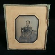 ( Photographie ) DAGUERREOTYPE Original Jeune Fille CONTY PARIS 1846 ! - Anciennes (Av. 1900)