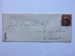 GB - Victoria 1853 Cover To Edinburgh - Diamond 14 London Postmark - Balls Pond Single Line To Rear - Covers & Documents