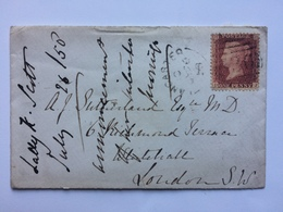 GB - Victoria 1858 Cover Lancaster To London Tied With 1d Star - Briefe U. Dokumente