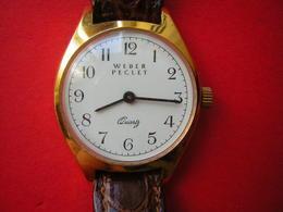 MONTRE MARQUE WEBER PECLET   QUARTZ  NE FONCTIONNE PLUS SANS DOUTE LA PILE A CHANGER - Watches: Modern