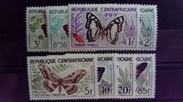 République Centrafricaine 1960 Animal Papillon Butterfly Yvert 4-11 ** MNH - Zentralafrik. Republik