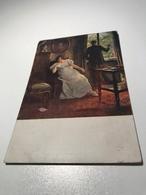 Lady With Handkerchief Sad Man Spanyik Ungarische Kunst Hungarian Art Painting 9082 Post Card Postkarte POSTCARD - Peintures & Tableaux