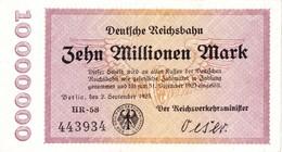 Notgeld Reichsbahn 10  Millionen Mark  Berlin - 10 Millionen Mark