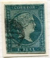 Edifil 41 1855 1 Real Filigrana De Lazos En Usado. - Usados