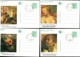 1977 Briefkaarten (5) Rubens Gestempeld Mint Conditie BK10-BK14 - Illustrierte Karten